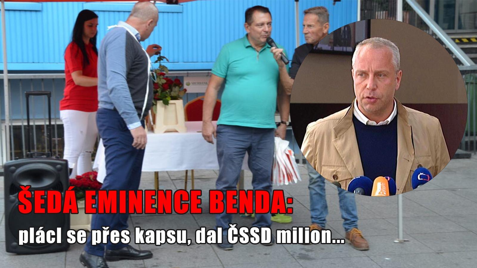 Místo na kandidátce ČSSD za milion korun! Benda ho zaplatil a raději mlčí
