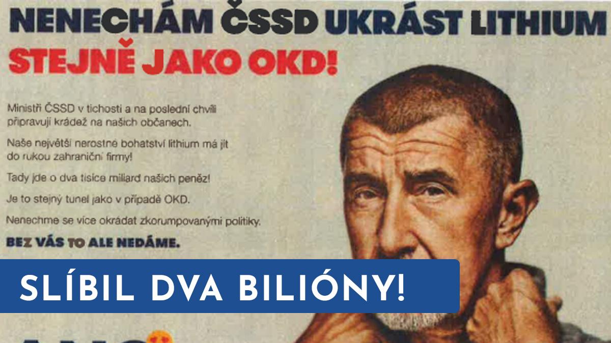 Premiér Babiš sliboval. Ferjenčík připomněl těžbu lithia a byla z toho mela!