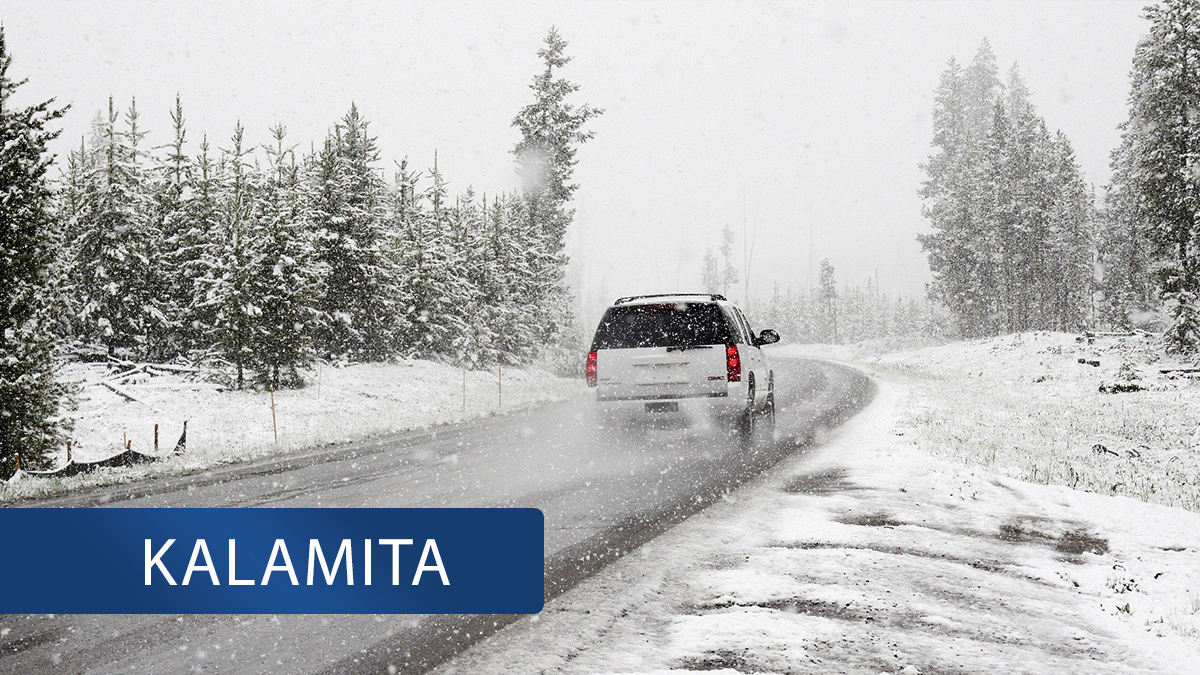 Husté sněžení a extrémní ledovka blokuje dopravu na Ústecku!