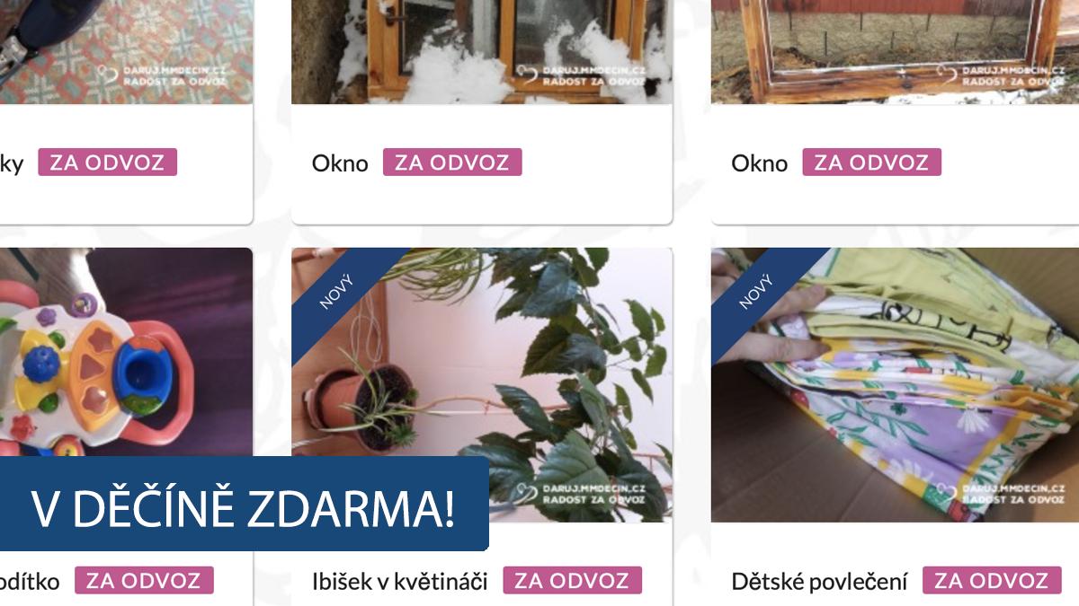 """Ibišek, okno nebo mikrovlnka. V Děčíně spustili portál """"Daruji za odvoz"""""""