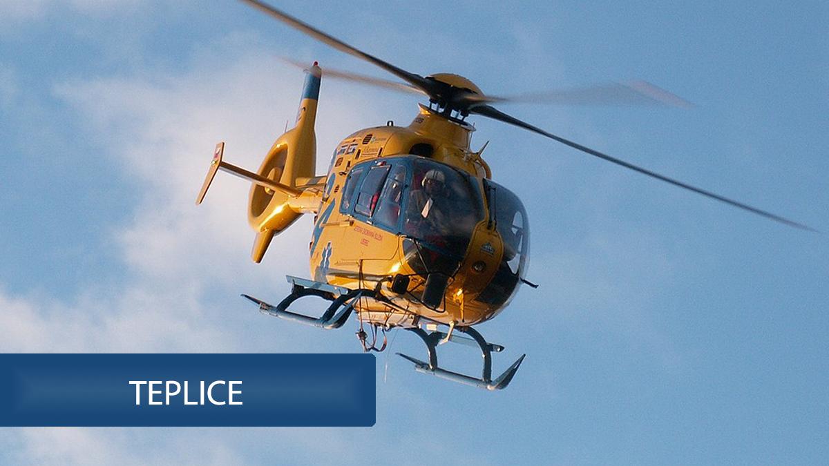 Tragédie v Teplicích: Předškolák vypil žíravinu, zasahoval vrtulník