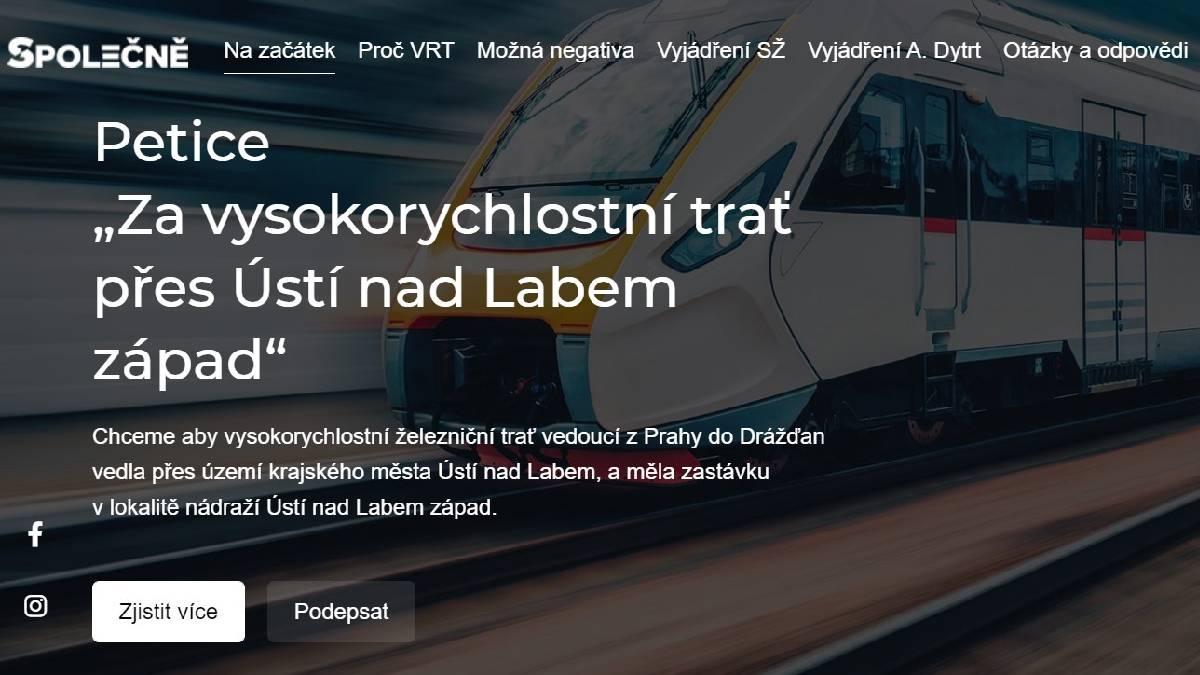 """SPOLEČNĚ bojují za VRT přes Ústí. """"Vycházíme z názoru odborníků,"""" řekl starosta spolku Zbyněk Novák"""